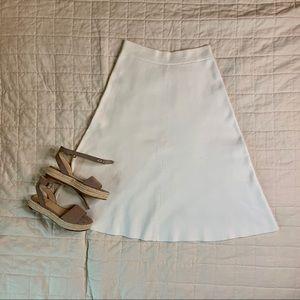 Uniqlo U Milano Ribbed A-Line Midi Skirt Cream L